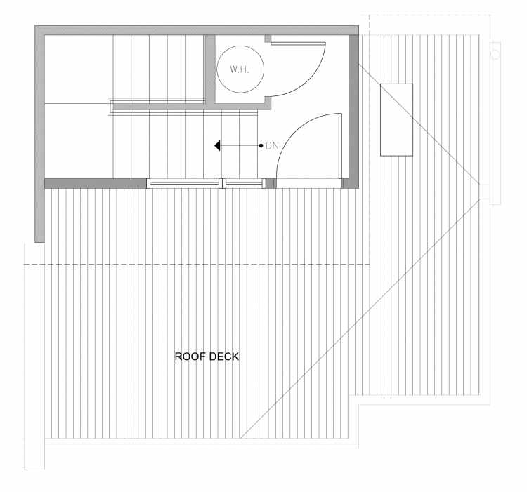 Roof Deck Floor Plan of 4727B 32nd Ave S, One of the Sterling Townhomes in Columbia City