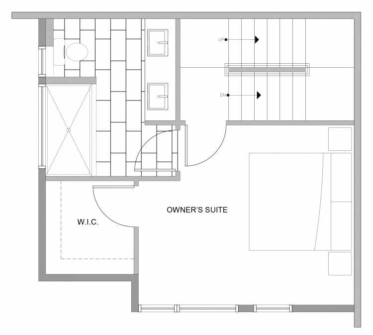Third Floor Plan of 4727D 32nd Ave S, One of the Sterling Townhomes in Columbia City