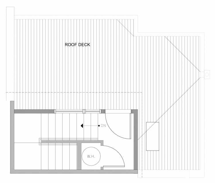 Roof Deck Floor Plan of 4729A 32nd Ave S, One of the Sterling Townhomes in Columbia City