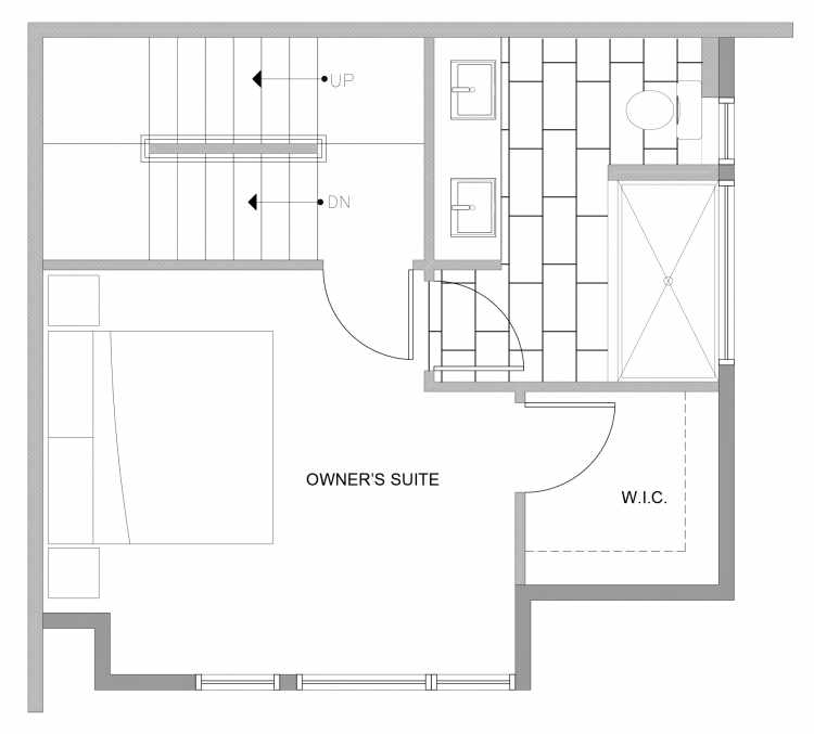 Third Floor Plan of 4729B 32nd Ave S, One of the Sterling Townhomes in Columbia City