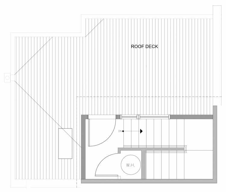 Roof Deck Floor Plan of 4729C 32nd Ave S, One of the Sterling Townhomes in Columbia City