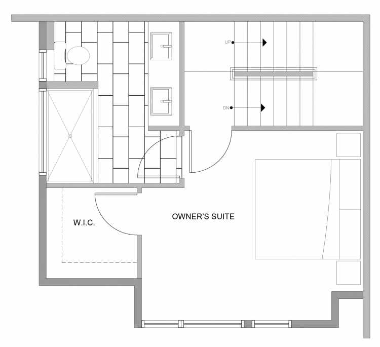 Third Floor Plan of 4729D 32nd Ave S, One of the Sterling Townhomes in Columbia City