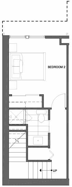 First Floor Plan of 4801A Dayton Ave N, One of the Ari Townhomes in Fremont
