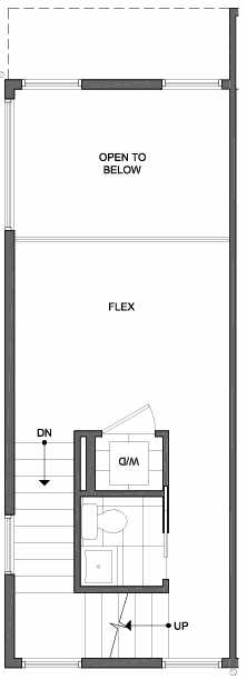 Third Floor Plan of 4801A Dayton Ave N, One of the Ari Townhomes in Fremont