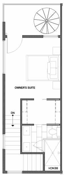 Fourth  Floor Plan of 4801A Dayton Ave N, One of the Ari Townhomes in Fremont