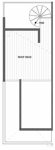 Roof Deck Floor Plan of 4801A Dayton Ave N, One of the Ari Townhomes in Fremont