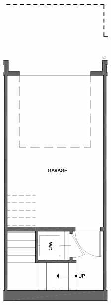 First Floor Plan of 4801D Dayton Ave N, One of the Ari Townhomes in Fremont