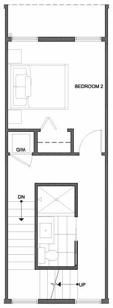 Third Floor Plan of 4801F Dayton Ave N, One of the Ari Townhomes in Fremont