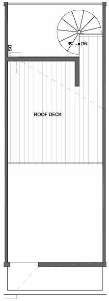 Roof Deck Floor Plan of 4801F Dayton Ave N, One of the Ari Townhomes in Fremont