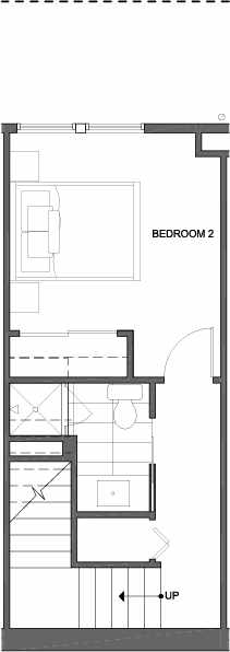 First Floor Plan of 4801C Dayton Ave N, One of the Ari Townhomes in Fremont