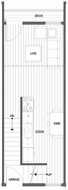 Second Floor Plan of 4801E Dayton Ave N, One of the Ari Townhomes in Fremont