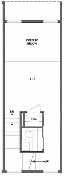 Third Floor Plan of 4801E Dayton Ave N, One of the Ari Townhomes in Fremont