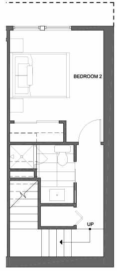 First Floor Plan of 4801G Dayton Ave N, One of the Ari Townhomes in Fremont
