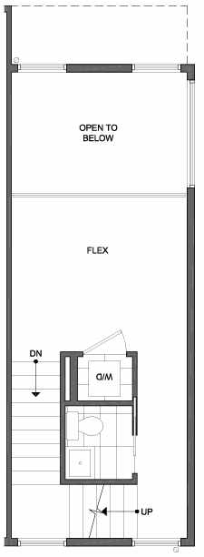 Third Floor Plan of 4801G Dayton Ave N, One of the Ari Townhomes in Fremont