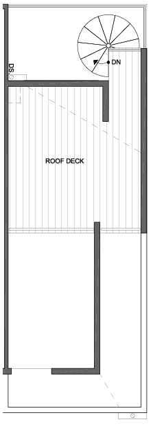 Roof Deck Floor Plan of 4801G Dayton Ave N, One of the Ari Townhomes in Fremont