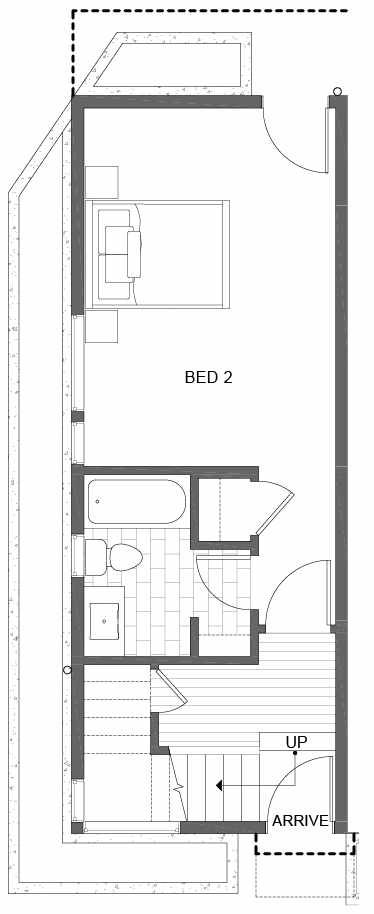First Floor Plan of 500A NE 71st St in the Avery Townhomes