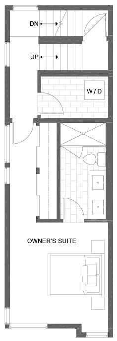Third Floor Plan of 500A NE 71st St in the Avery Townhomes