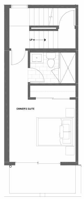 Fourth Floor Plan of 500B NE 71st St in the Avery Townhomes