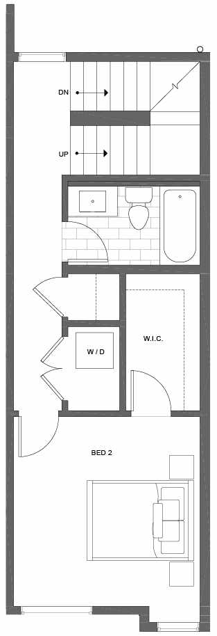 Third Floor Plan of 500B NE 71st St in the Avery Townhomes