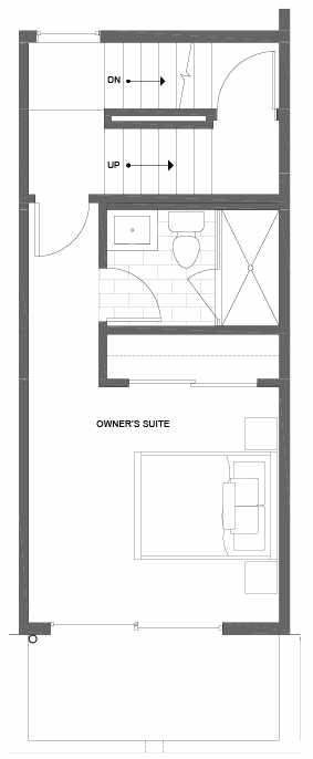 Fourth Floor Plan of 500C NE 71st St in the Avery Townhomes