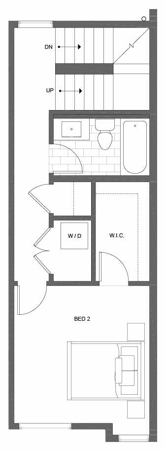 Third Floor Plan of 500C NE 71st St in the Avery Townhomes