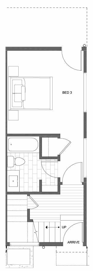 First Floor Plan of 500D NE 71st St in the Avery Townhomes
