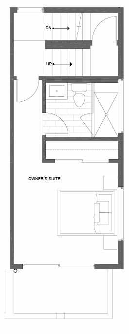 Fourth Floor Plan of 500D NE 71st St in the Avery Townhomes