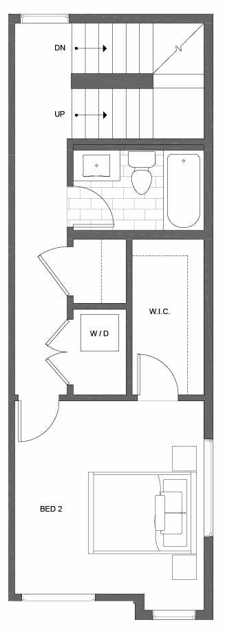 Third Floor Plan of 500D NE 71st St in the Avery Townhomes