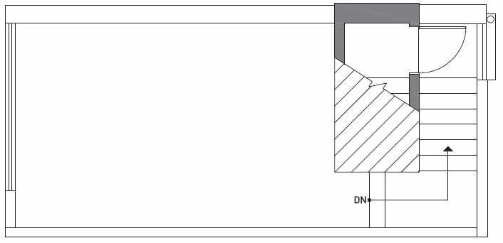 Roof Deck Plan of 503B NE 72nd St in Emory Townhomes, Located in Green Lake