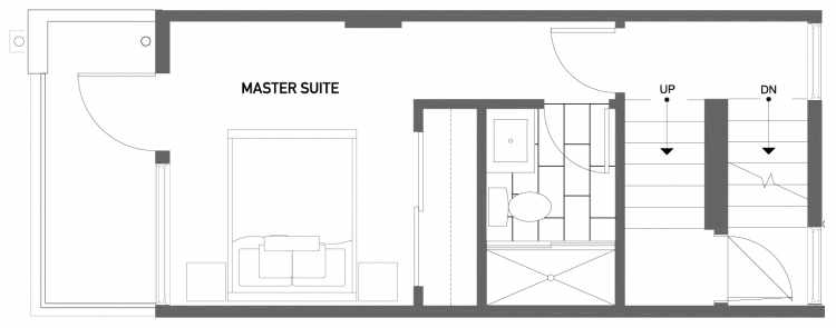 Third Floor Plan of 503C NE 72nd St in Emory Townhomes, Located in Green Lake