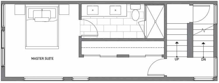 Third Floor Plan of 503G NE 72nd St in Emory Townhomes, Located in Green Lake