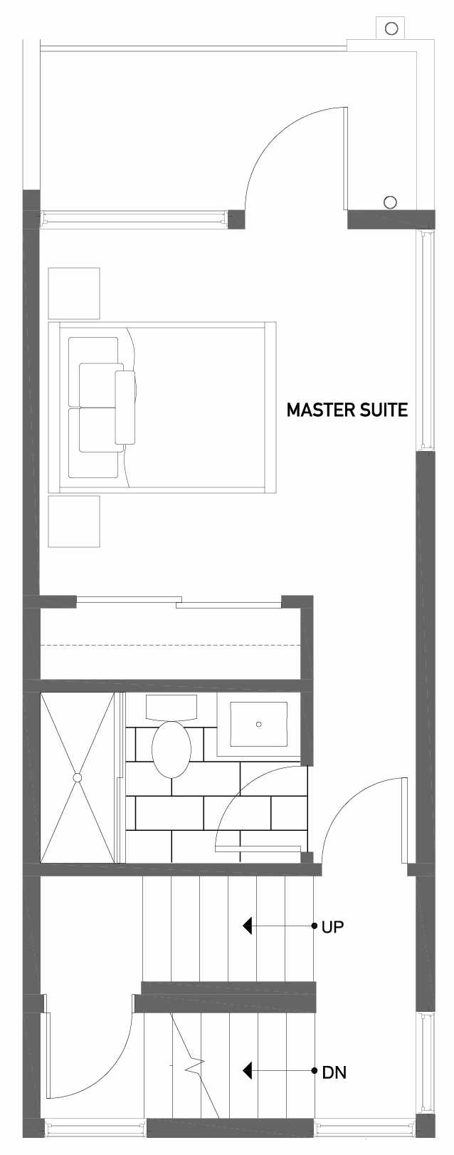Third Floor Plan of 503H NE 72nd St in Emory Townhomes, Located in Green Lake