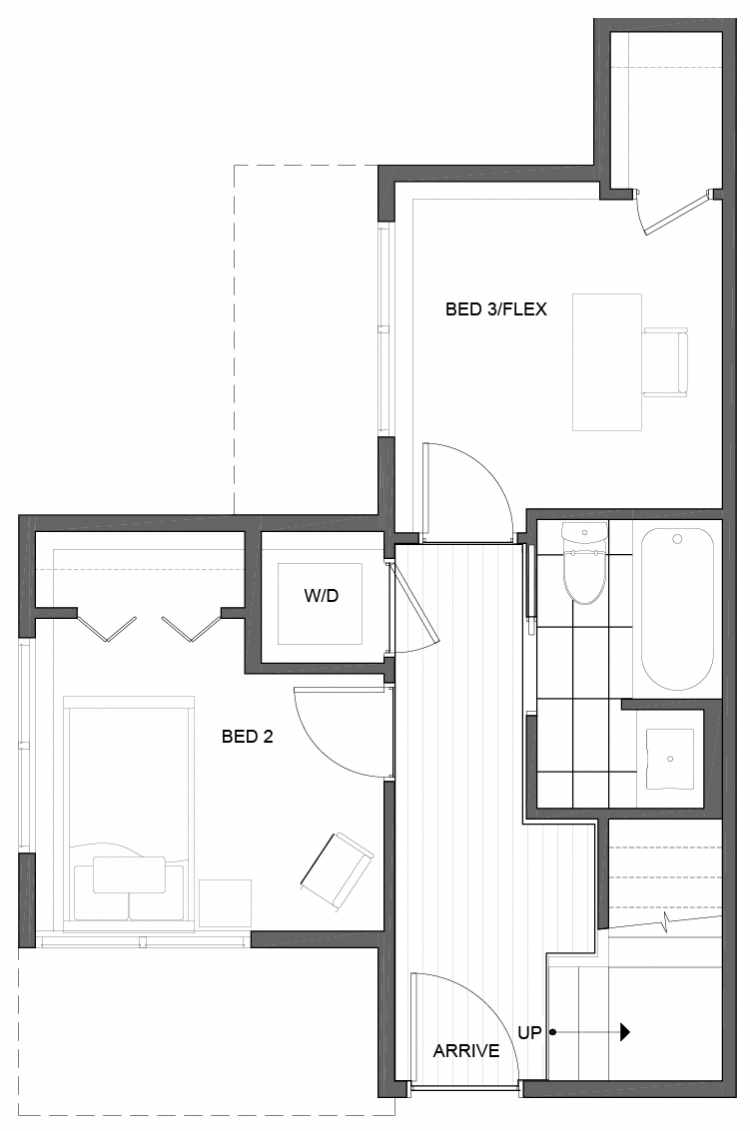 First Floor Plan of 5111A Ravenna Ave NE of the Tremont Townhomes