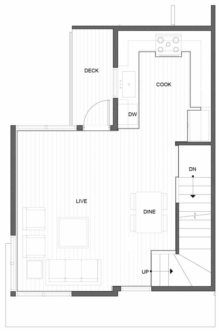 Second Floor Plan of 5111A Ravenna Ave NE of the Tremont Townhomes