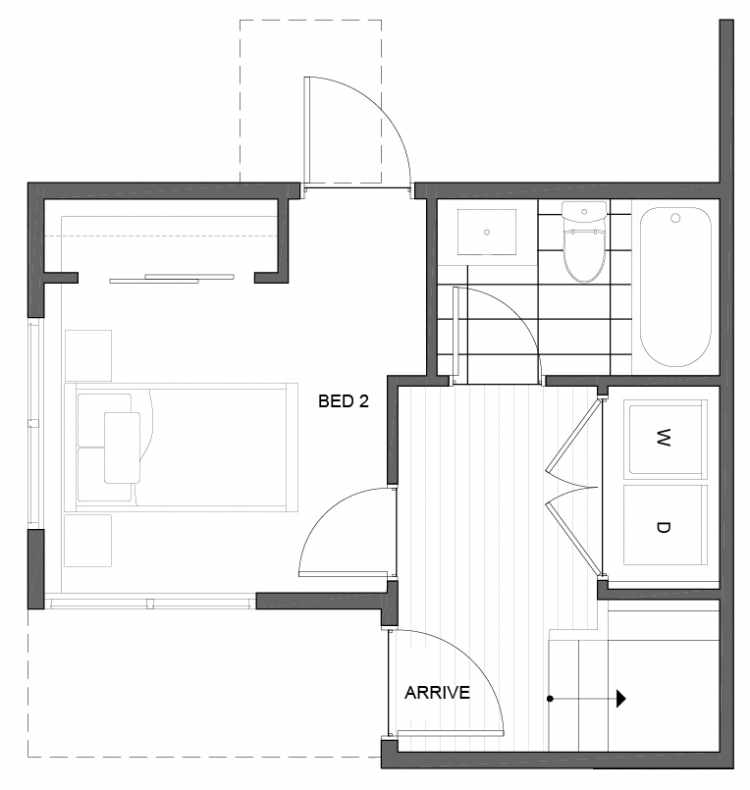 First Floor Plan of 5111B Ravenna Ave NE of the Tremont Townhomes
