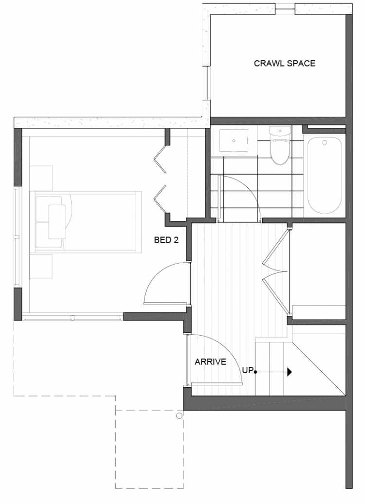 First Floor Plan of 5111C Ravenna Ave NE of the Tremont Townhomes