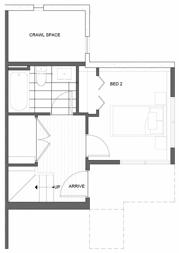 First Floor Plan of 5111D Ravenna Ave NE of the Tremont Townhomes