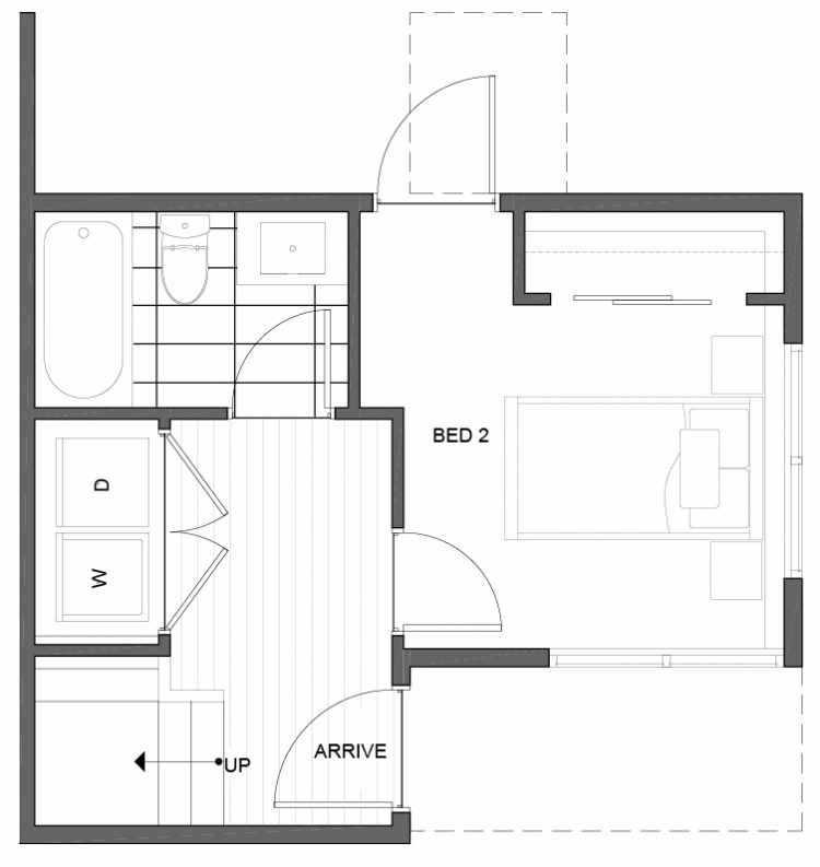 First Floor Plan of 5111E Ravenna Ave NE of the Tremont Townhomes