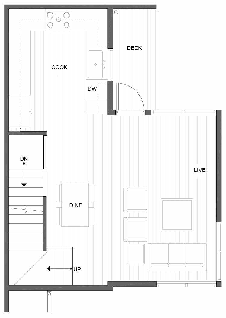 Second Floor Plan of 5111E Ravenna Ave NE of the Tremont Townhomes