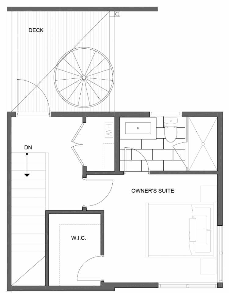 Third Floor Plan of 5111E Ravenna Ave NE of the Tremont Townhomes