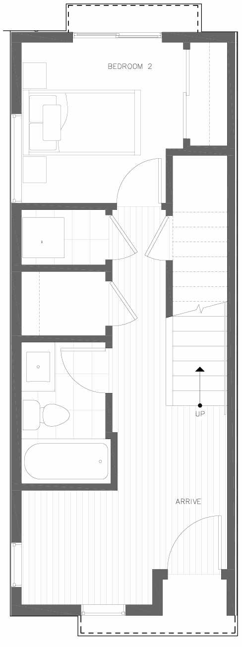 First Floor Plan of 6301A 9th Ave NE in Zenith Towns South by Isola Homes