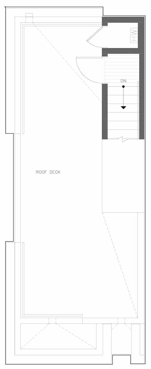 Roof Deck Floor Plan of 6301A 9th Ave NE in Zenith Towns South by Isola Homes