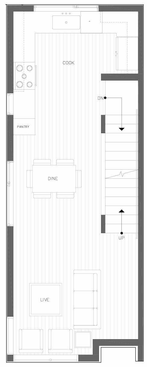 Second Floor Plan of 6301A 9th Ave NE in Zenith Towns South by Isola Homes