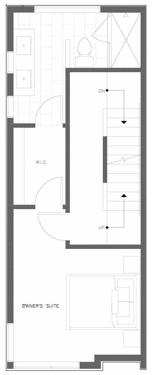 Third Floor Plan of 6301A 9th Ave NE in Zenith Towns South by Isola Homes