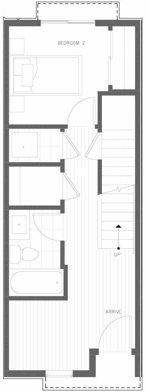 First Floor Plan of 6301B 9th Ave NE in Zenith Towns South by Isola Homes