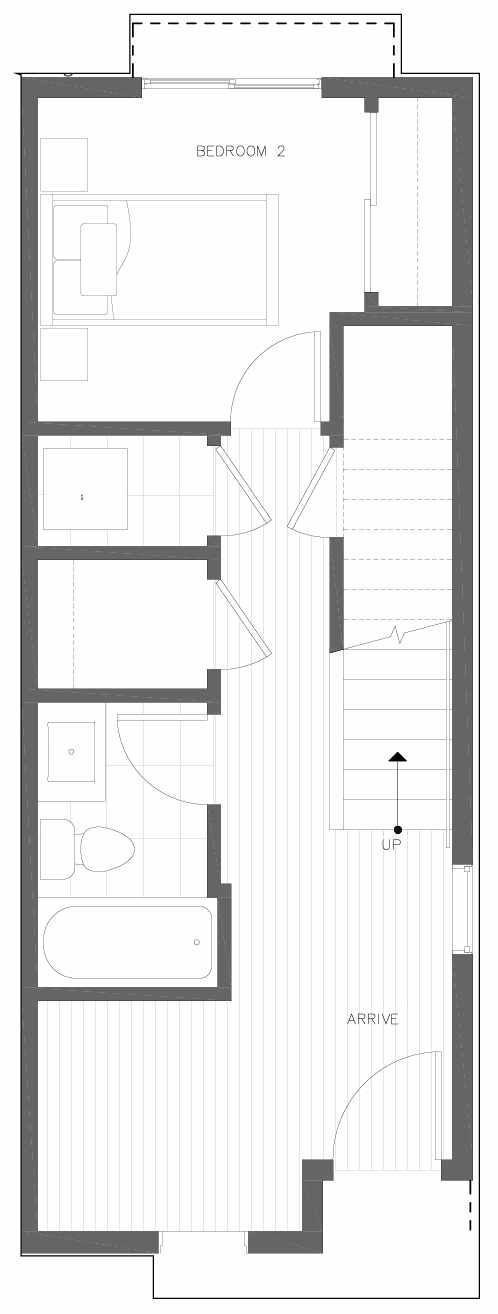 First Floor Plan of 6301C 9th Ave NE in Zenith Towns South by Isola Homes