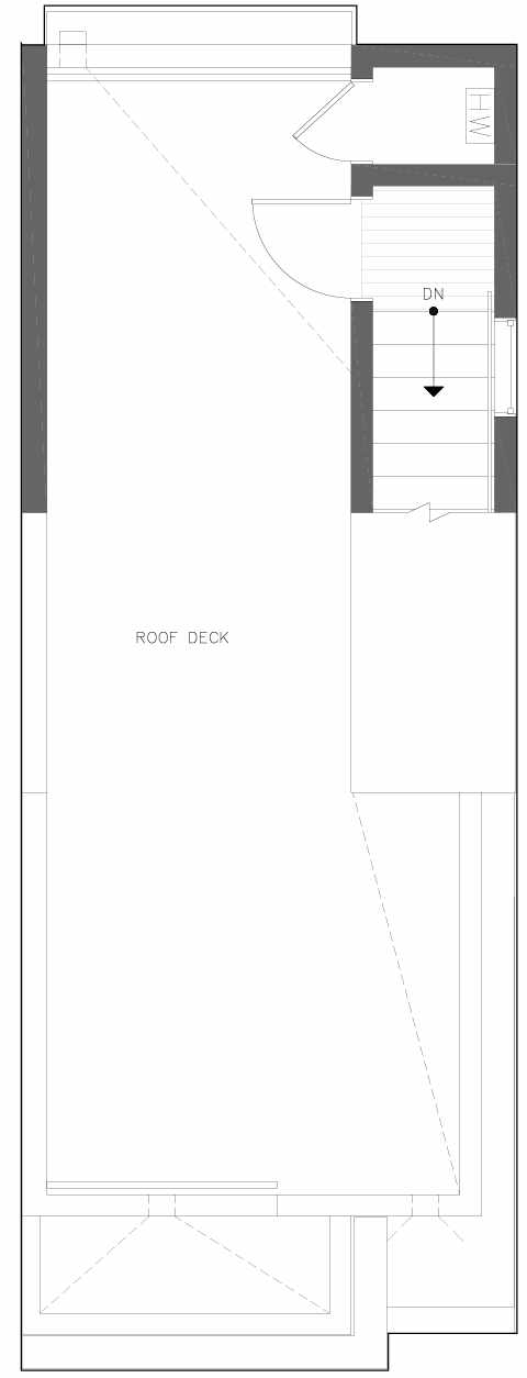 Roof Deck Floor Plan of 6301C 9th Ave NE in Zenith Towns South by Isola Homes