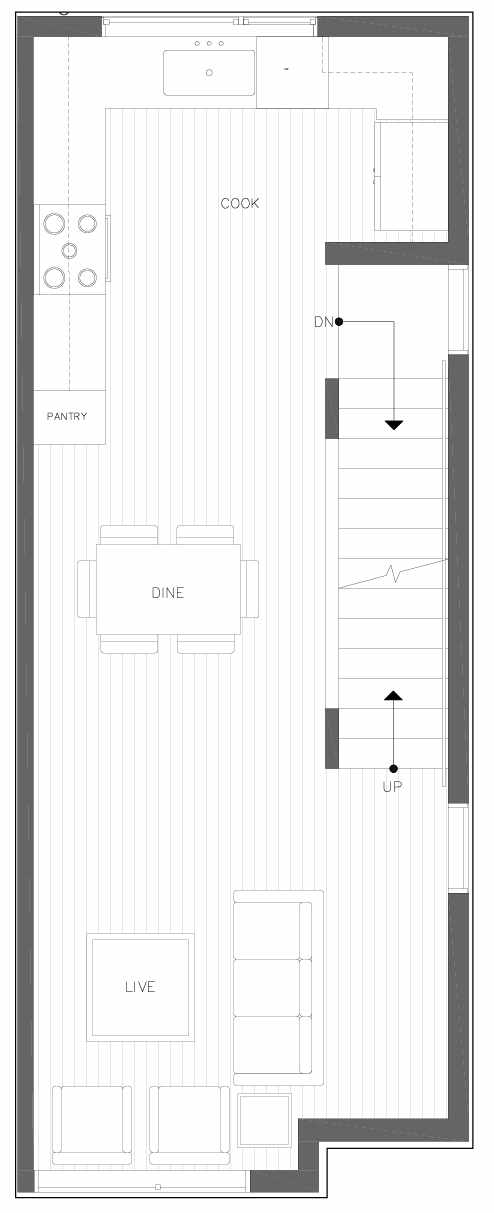 Second Floor Plan of 6301C 9th Ave NE in Zenith Towns South by Isola Homes