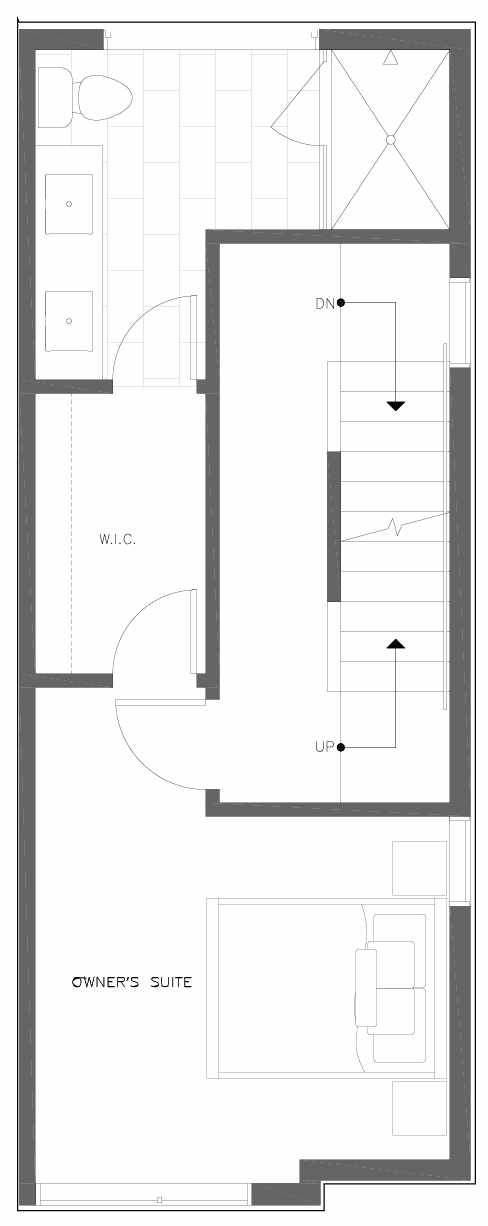 Third Floor Plan of 6301C 9th Ave NE in Zenith Towns South by Isola Homes