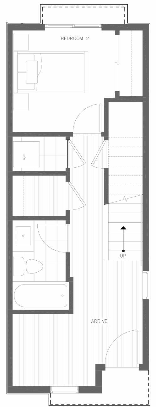 First Floor Plan of 6309A 9th Ave NE in Zenith Towns East by Isola Homes